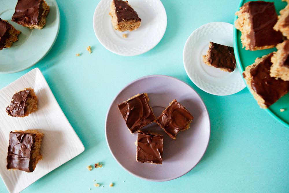 Scotcheroo peanut butter treats | Freckle & Fair