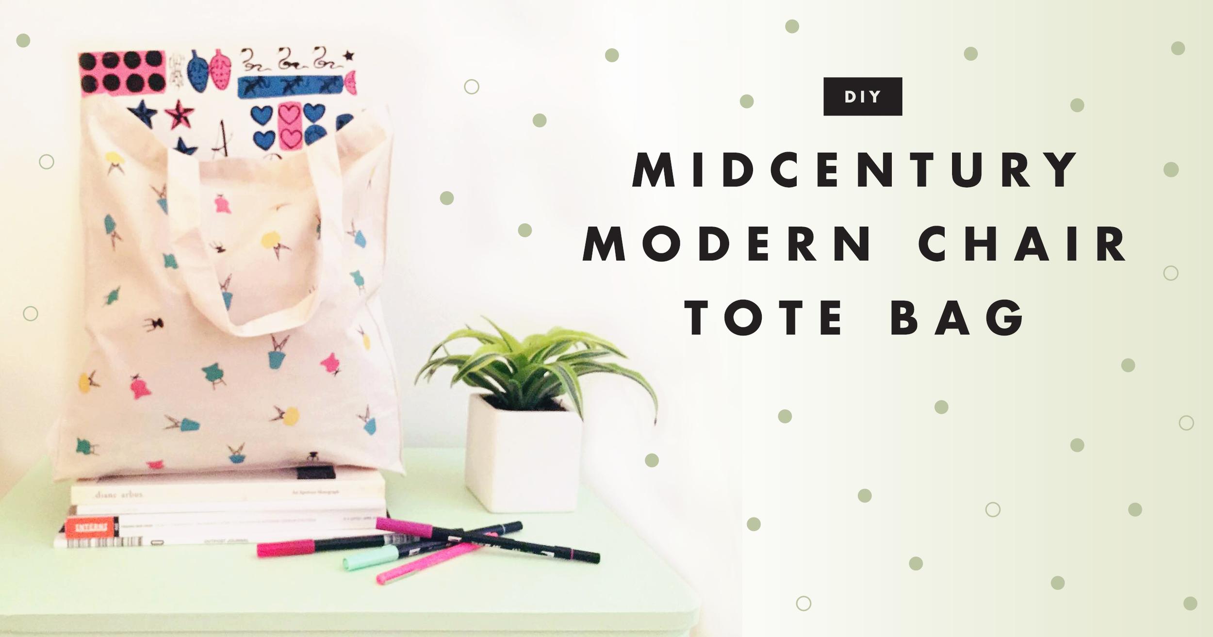 DIY MIdcentury Modern Chair Tote | Freckle & Fair