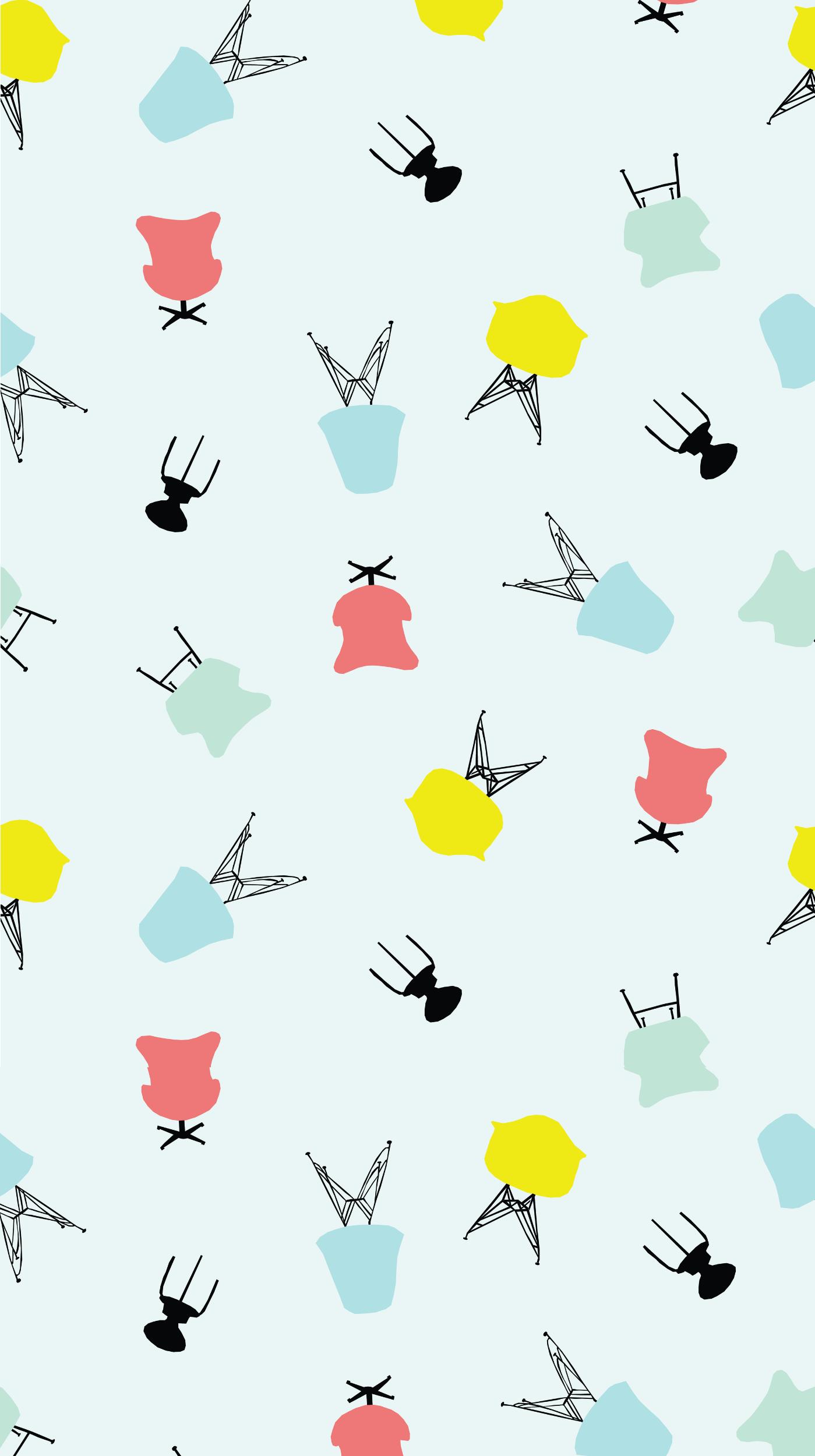 Midcentury Modern Chair Pattern | Freckle & Fair