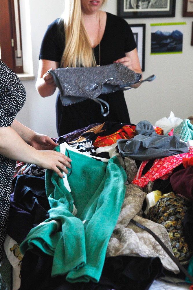 Host a clothing swap to promote closet cleaning! | Freckle & Fair