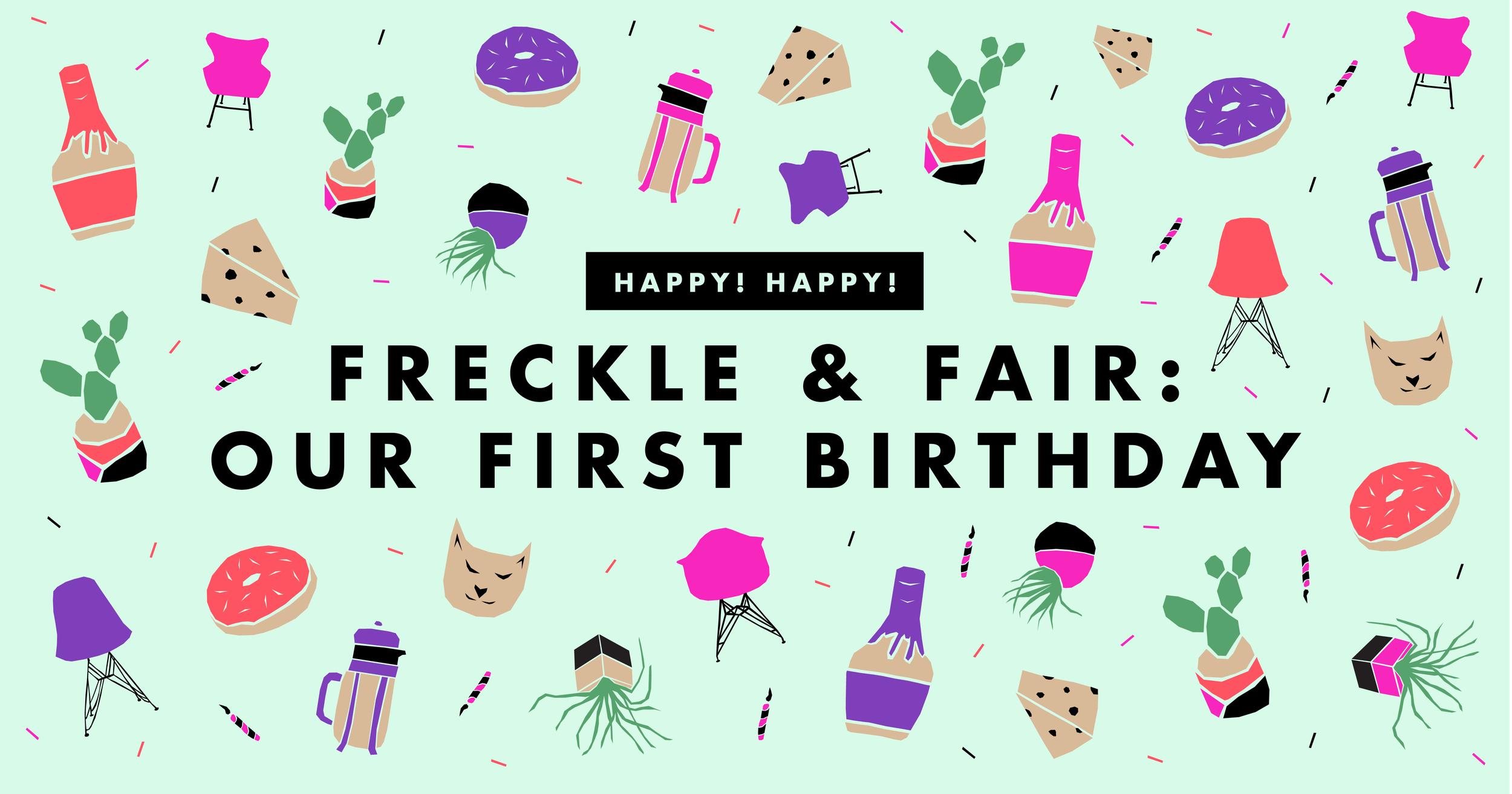 Our First Blog Birthday | Freckle & Fair