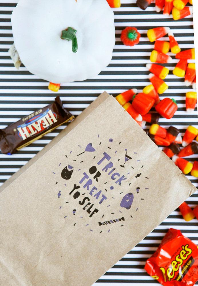 Trick or Treat Yo'Self Halloween treat bags | Freckle & Fair