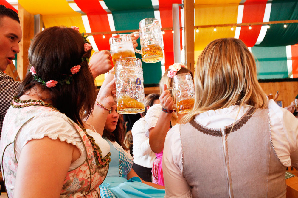 Schützen-Festzelt tent at Oktoberfest in Munich | Freckle & Fair