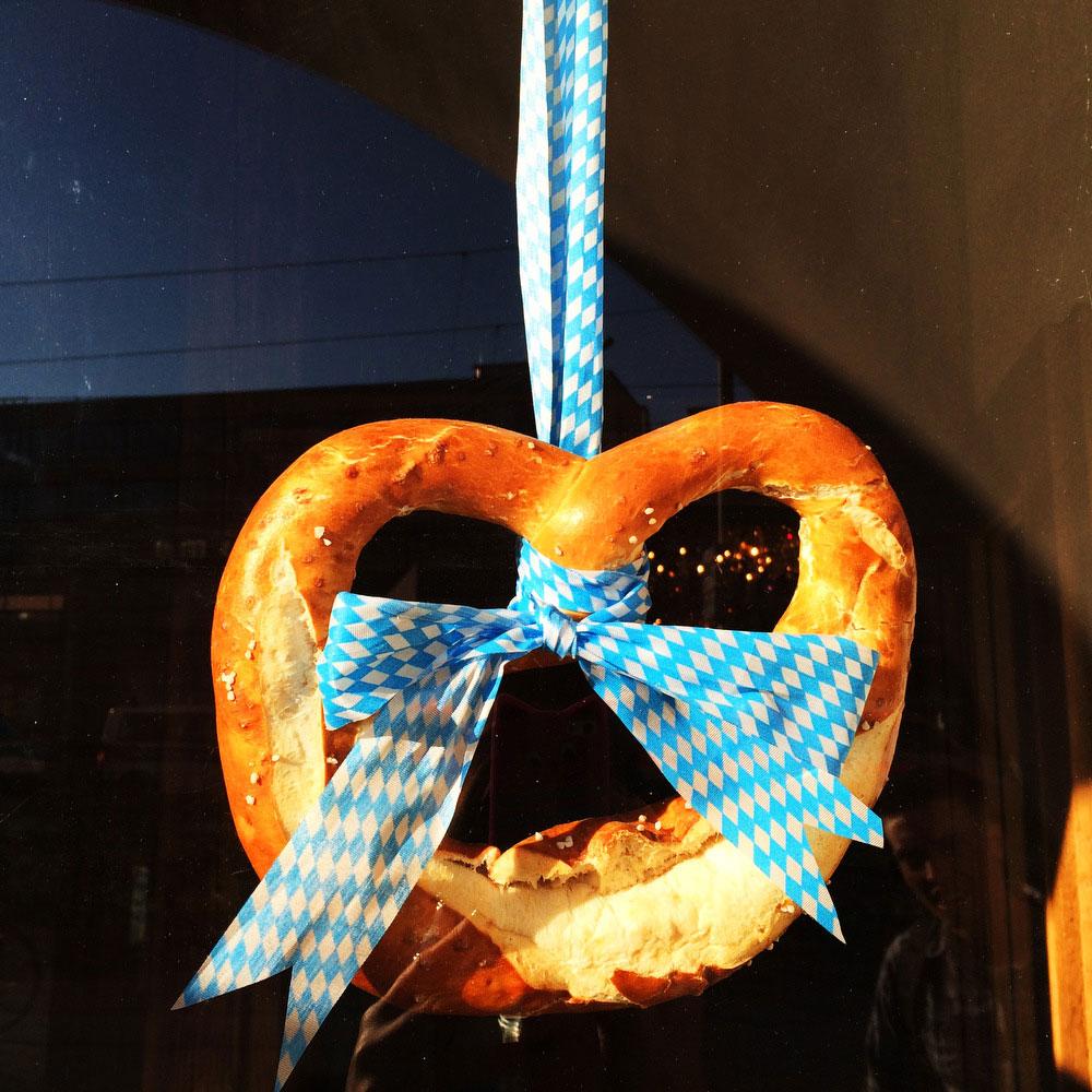 German pretzels during Oktoberfest in Munich   Freckle & Fair