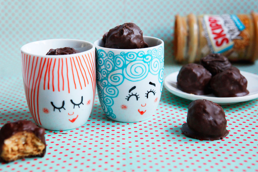 Chocolate peanut butter balls | freckleandfair.com
