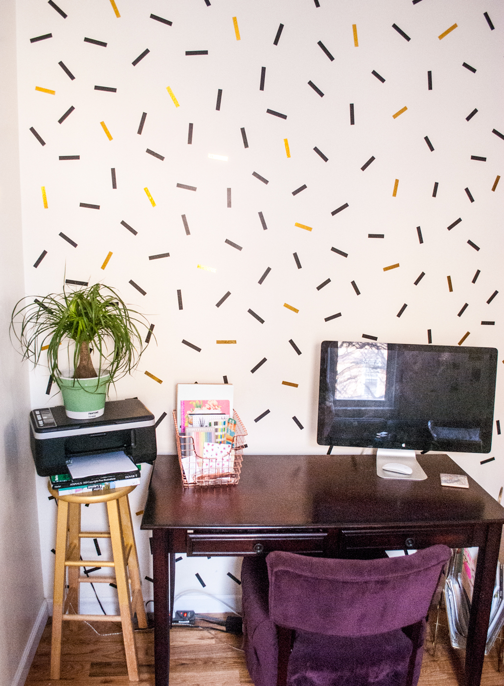 DIY oversized confetti mural | freckleandfair.com