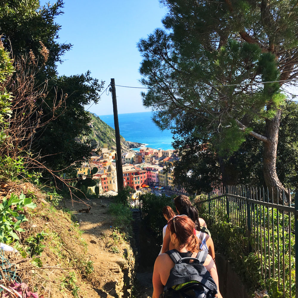 Hike from Monterosso to Vernazza Cinque Terre, Italy | freckleandfair.com
