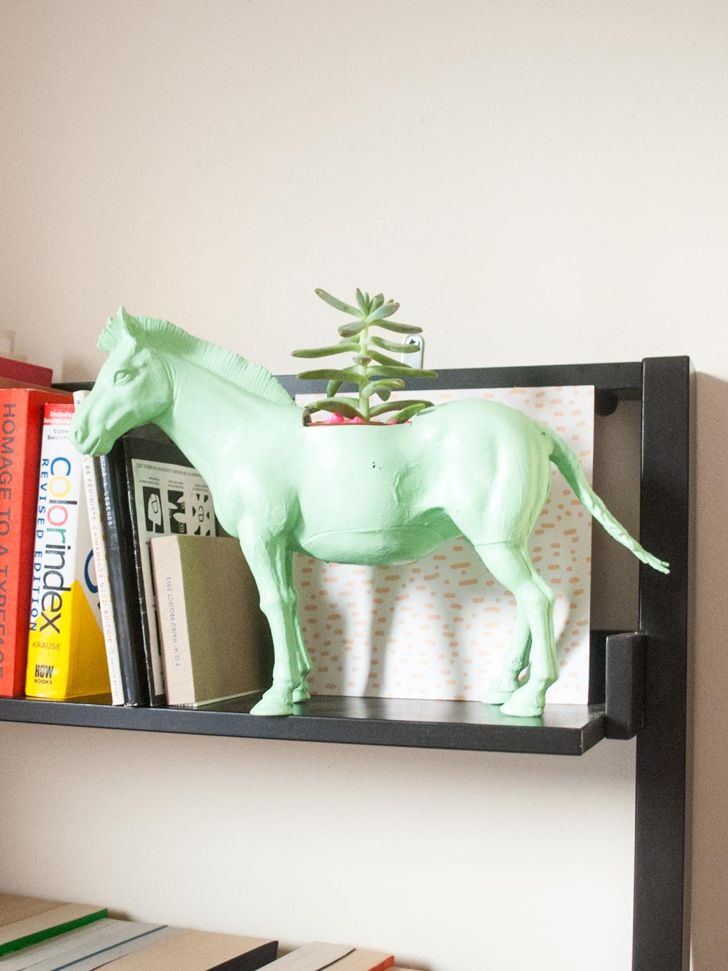 DIY pastel, gold & neon animal planters | freckleandfair.com