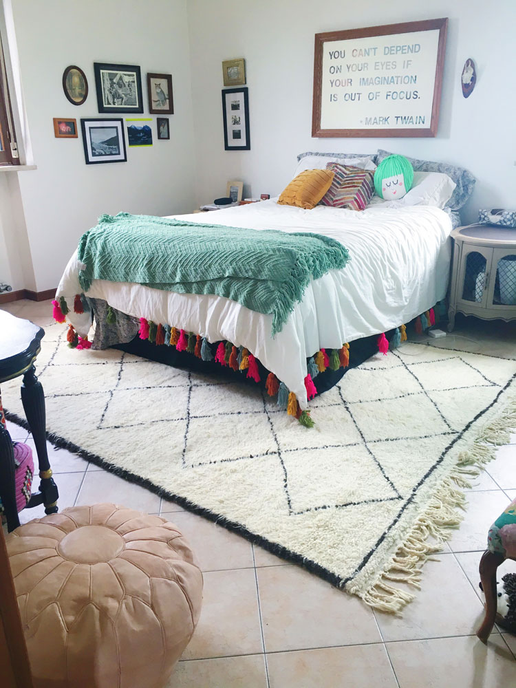 Moroccan Beni Ourain rug | Freckleandfair.com