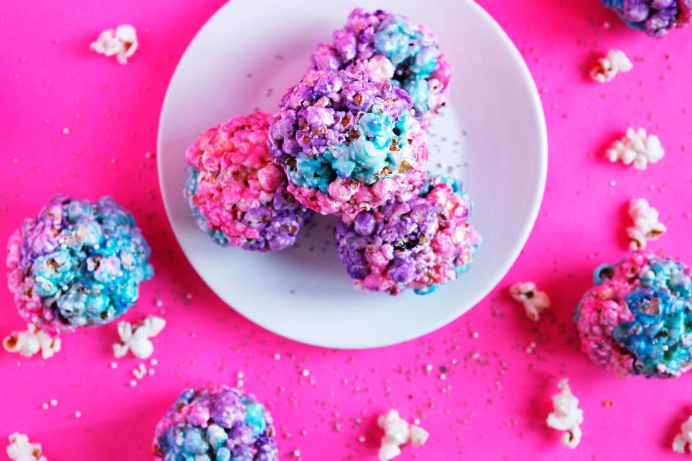 Galaxy popcorn balls | Freckle & Fair