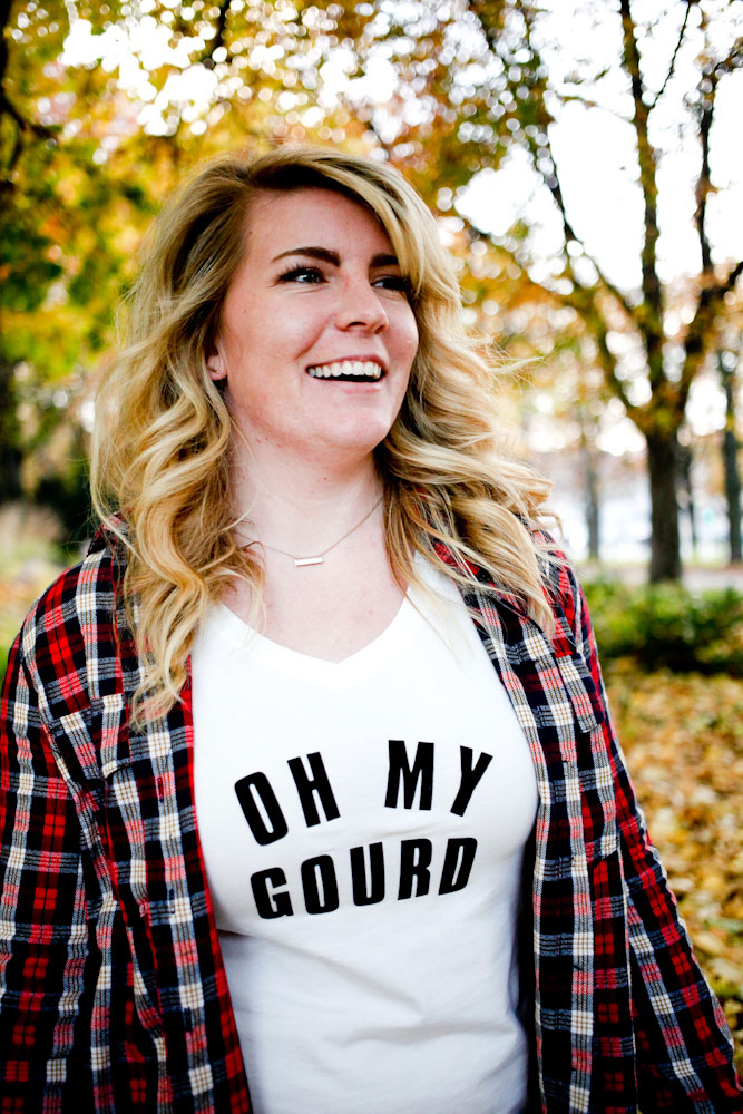 DIY Oh My Gourd shirts for fall, Halloween and Thanksgiving | freckleandfair.com