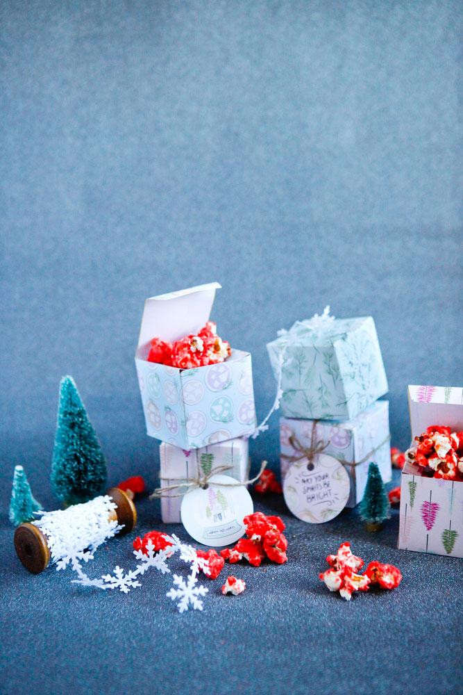 DIY holiday printable gift boxes & tags for Christmas | freckleandfair.com