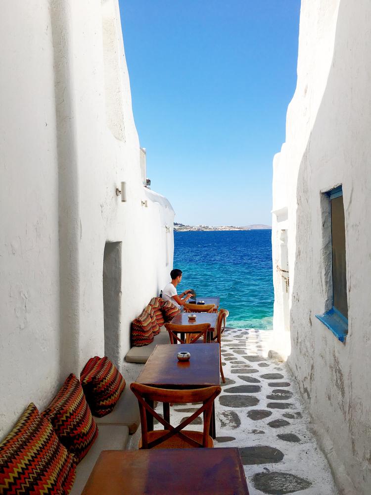 Kastro's Bar in Mykonos, Greece   www.freckleandfair.com