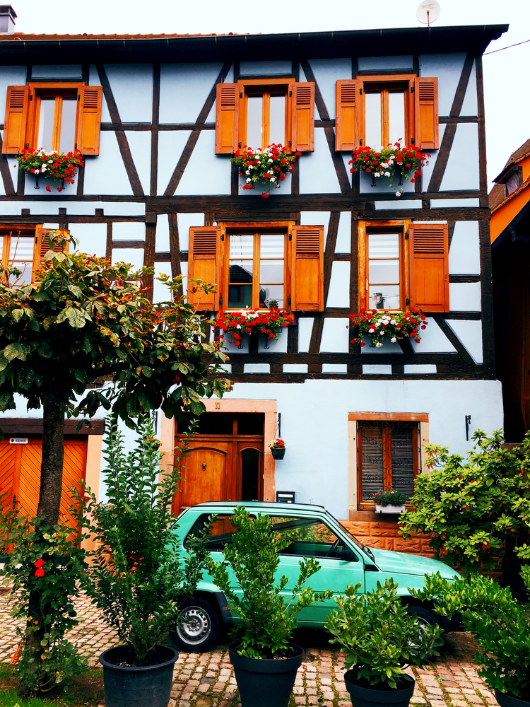Colorful Ribeauville, France in the Alsace region | freckleandfair.com