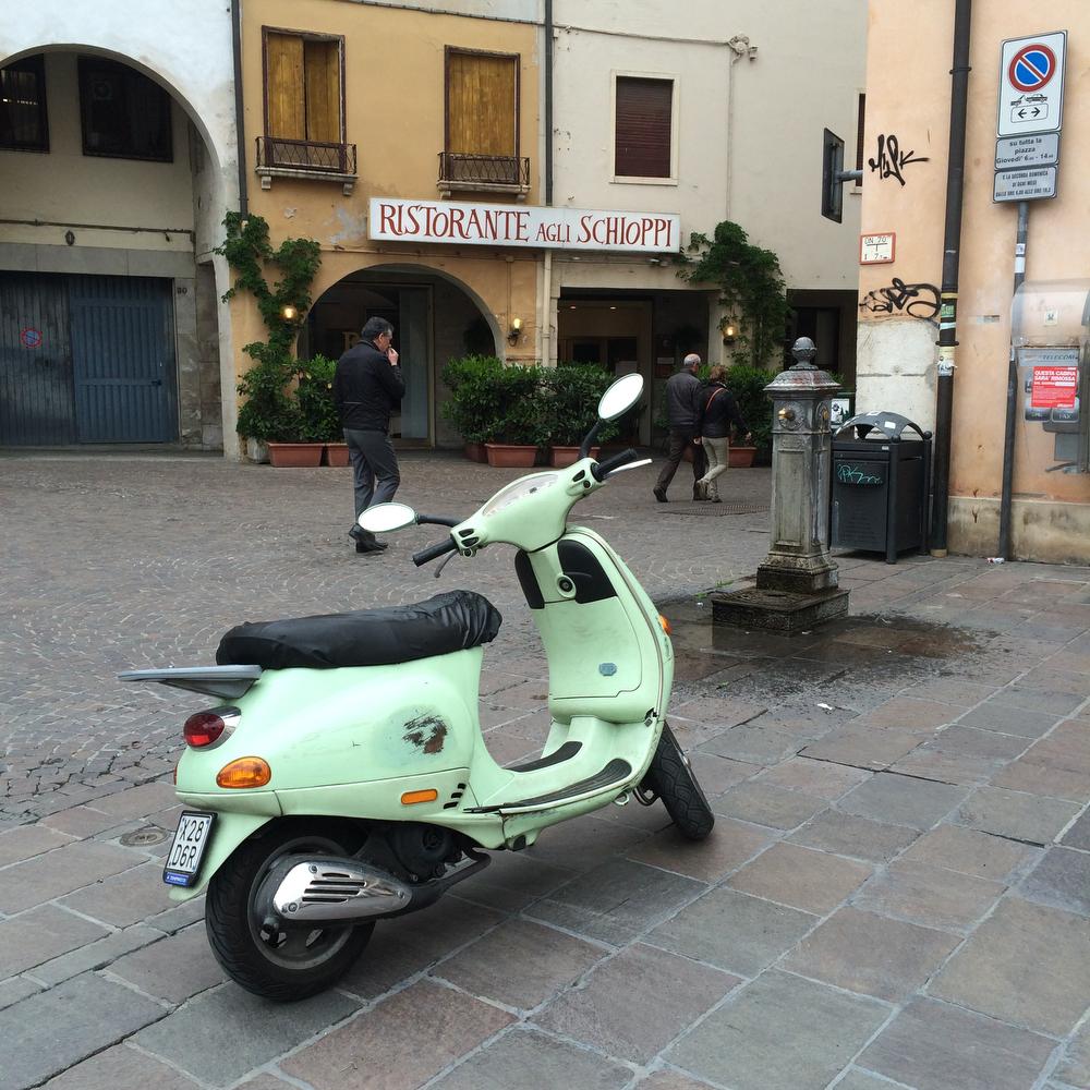 Italian Vespa in Italy | www.freckleandfair.com