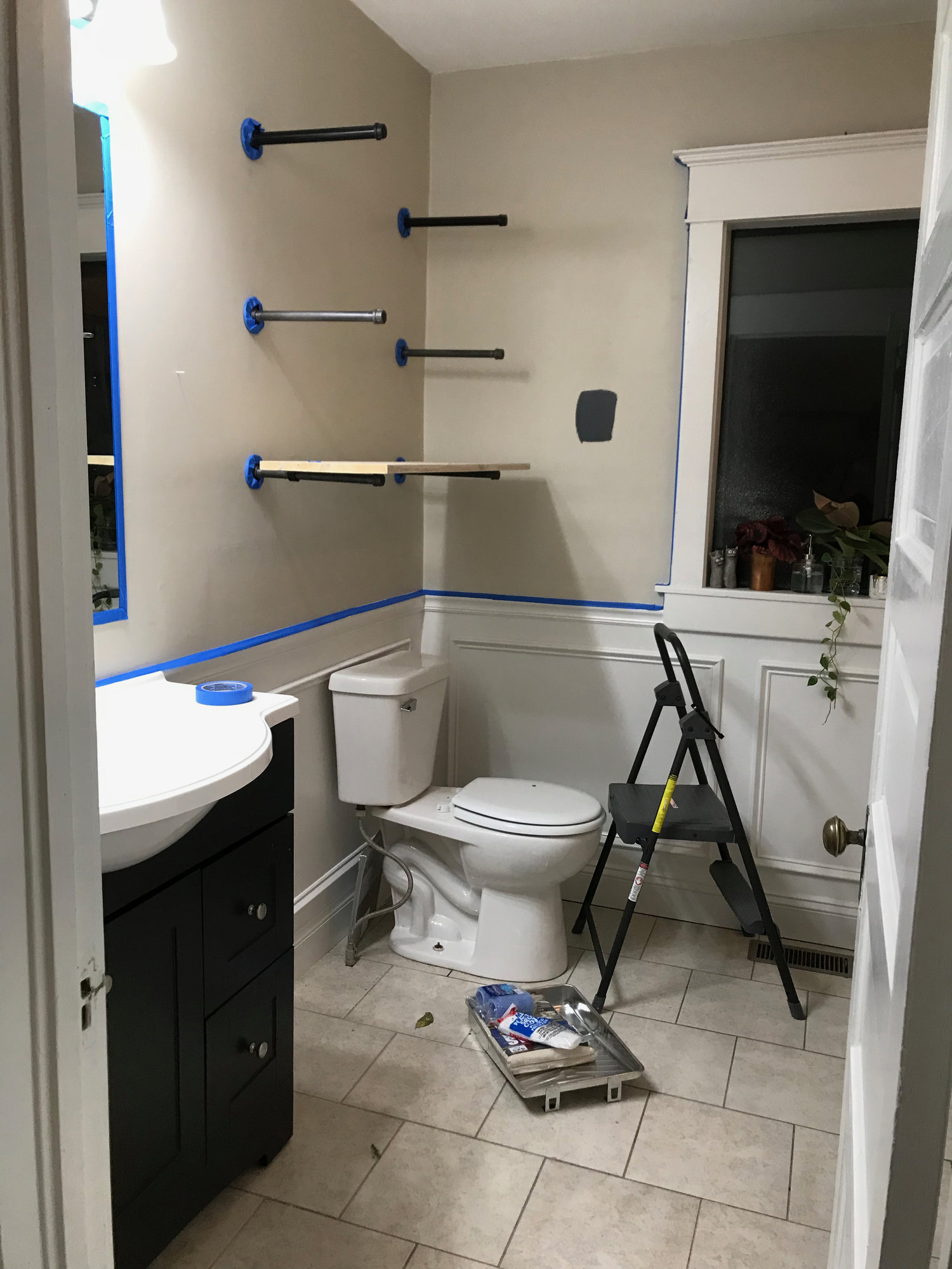 Before After Moody Glam Bathroom Update With Black Walls
