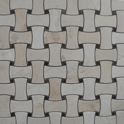 Basketweave:  An all-over checkered weavepattern resembling that of a woven basket. Commonly used in floor tiling.