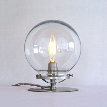 Clear globe table lamp  from  Sanctum Lighting ; $129