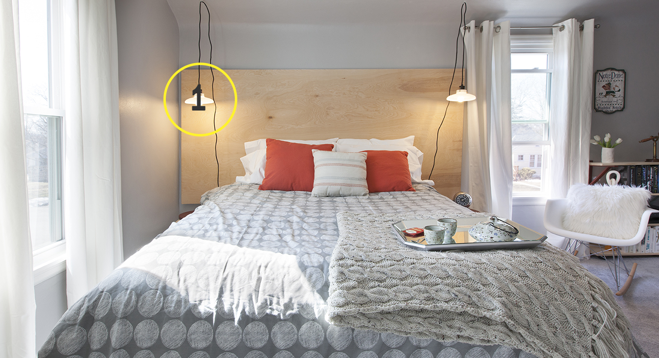 Tip #1: Have unique lighting flanking the bed that can be individually controlled.
