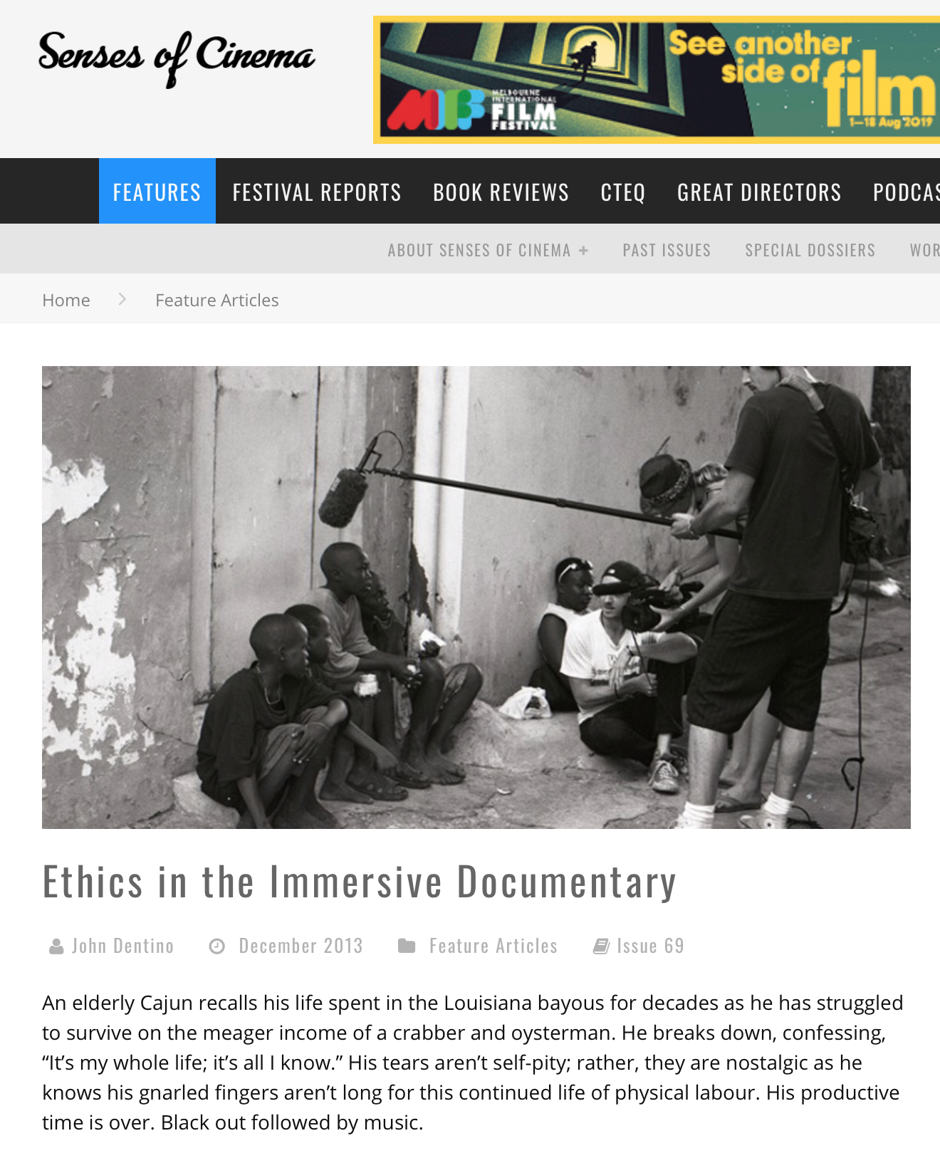 Ethics in the Immersive Documentary