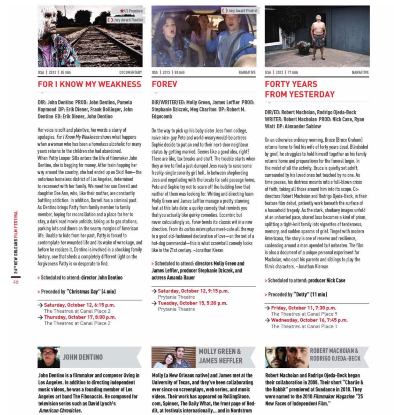 New Orleans Film Festival Program