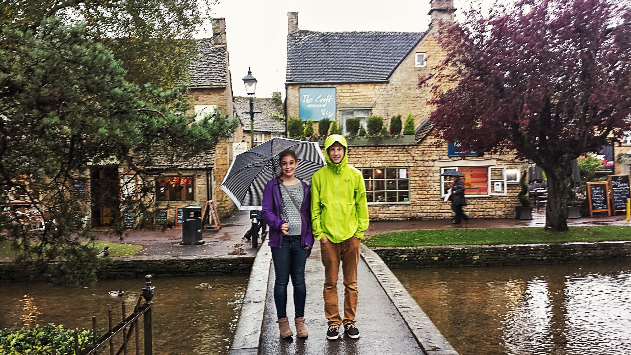 In Burton on the Water - in the rain