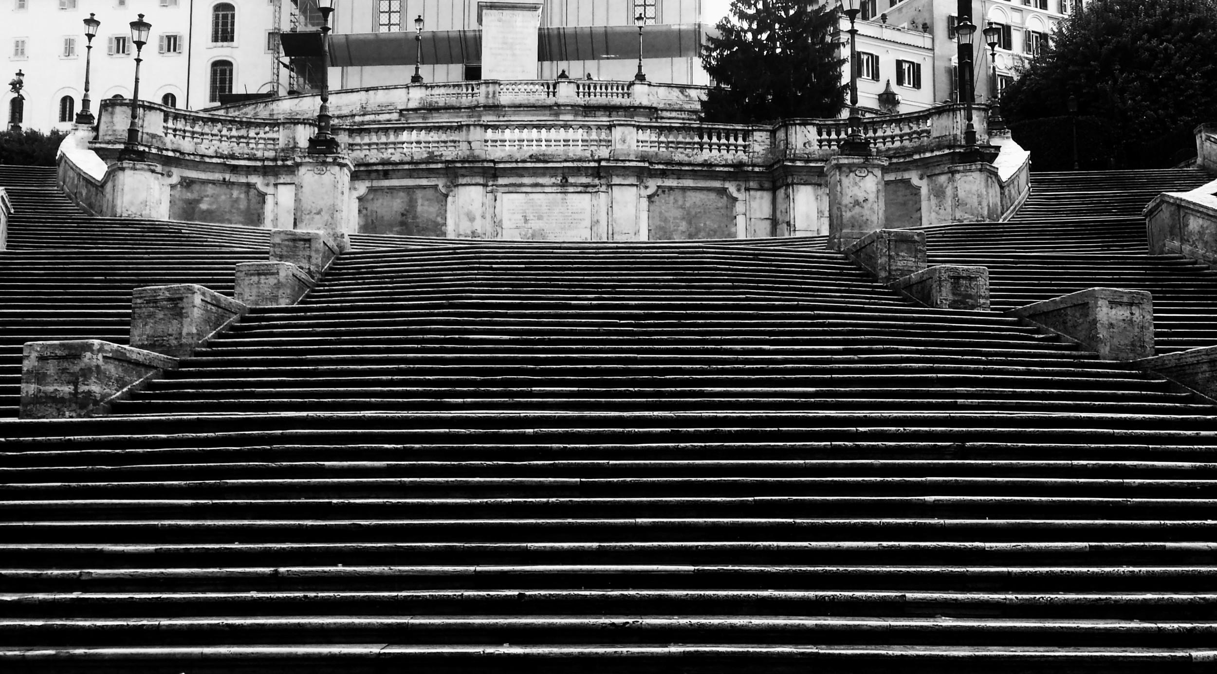 Empty Spanish Steps