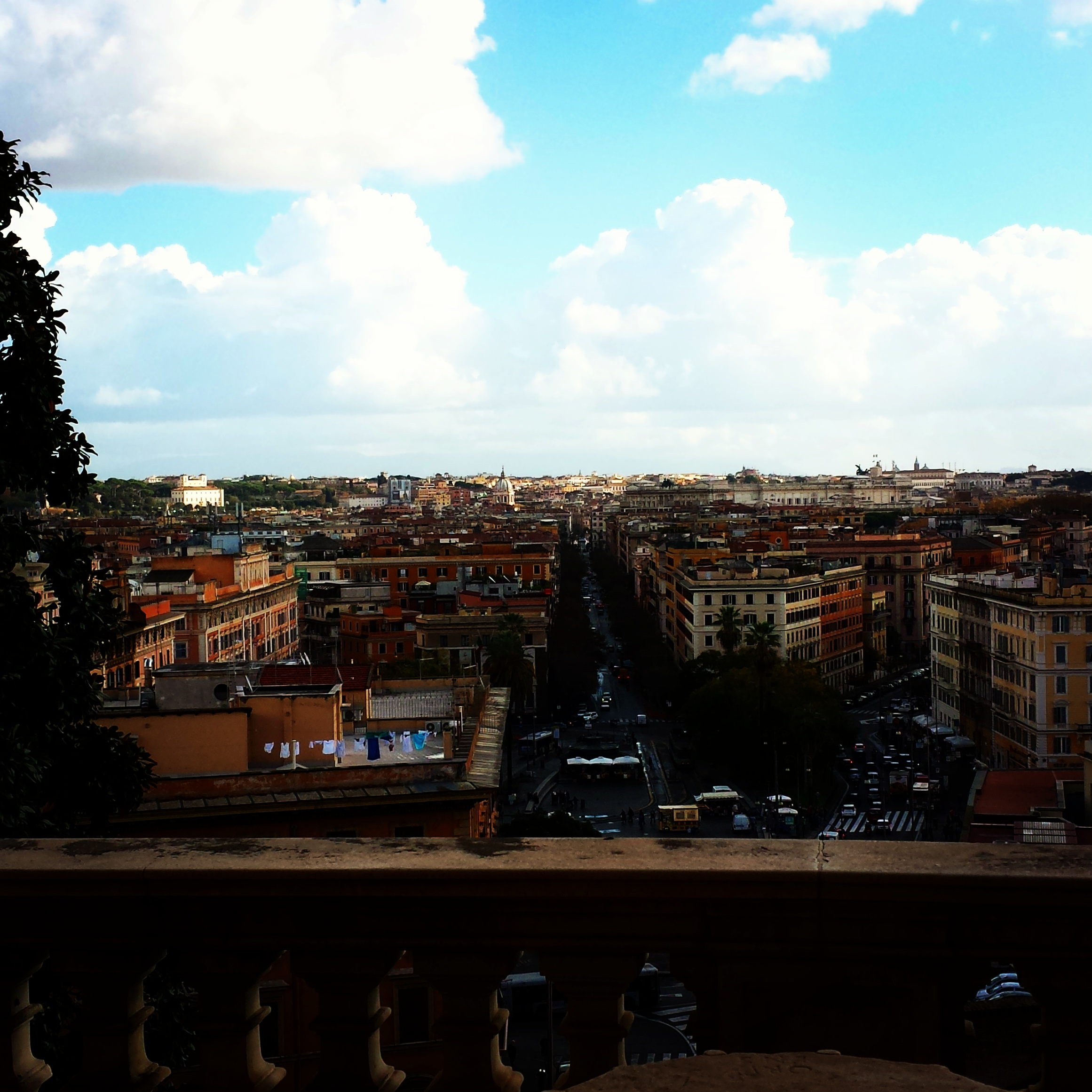 Rome from the top of the Spanish Steps