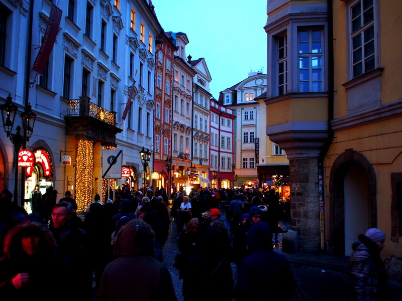 Throngs of people packed the streets of Old Town