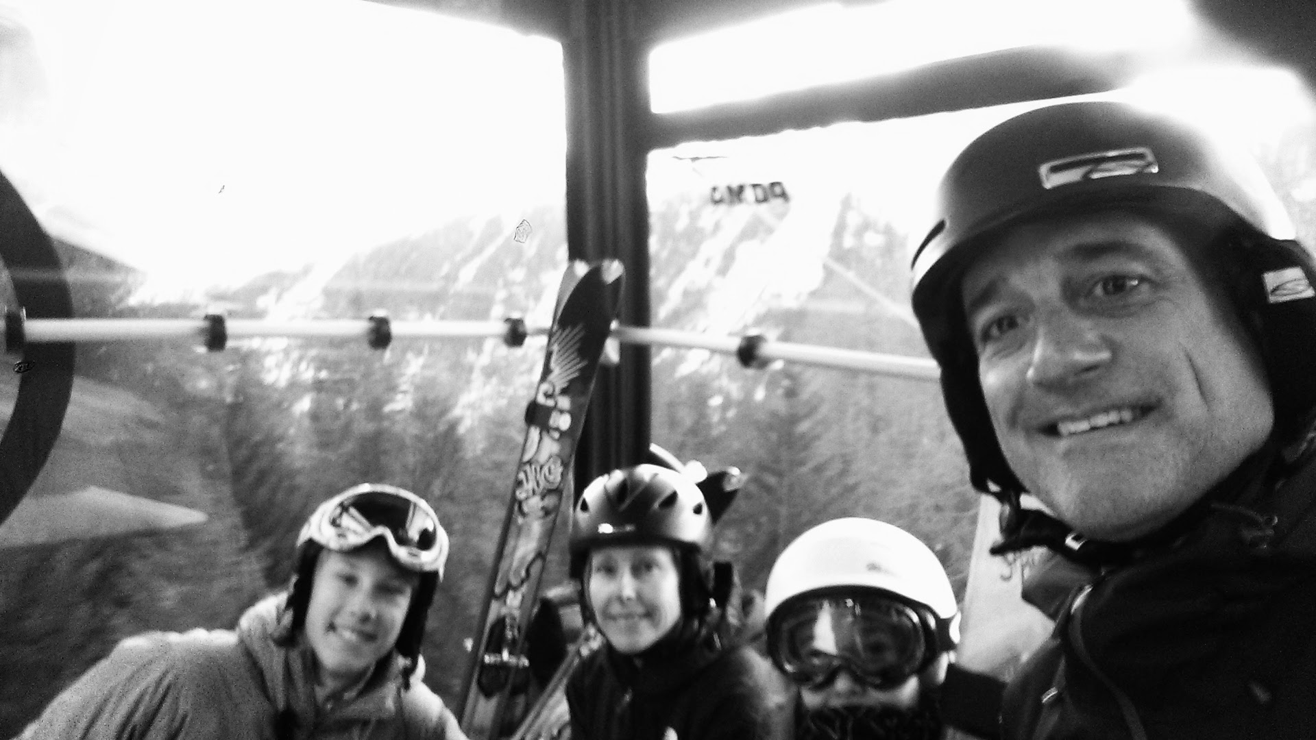 Our first gondola ride in Chamonix