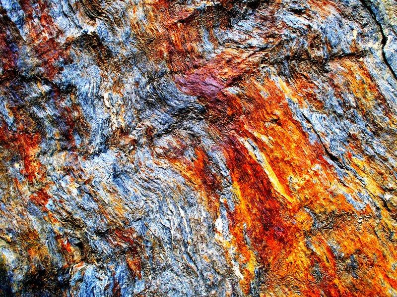 Beautiful Iron in rock