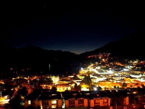 Queenstown at night.