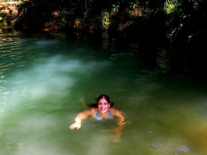 Lea enjoying a dip