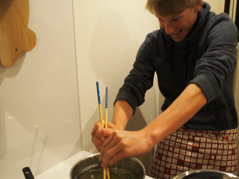 I had to pull wet kelp out of a pot - not easy!