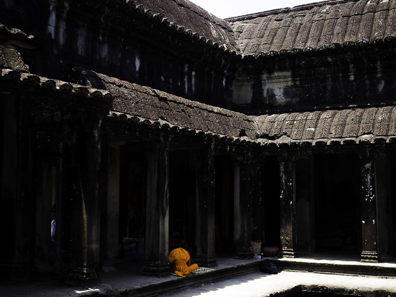 Peter caught this great picture of a monk in the temple