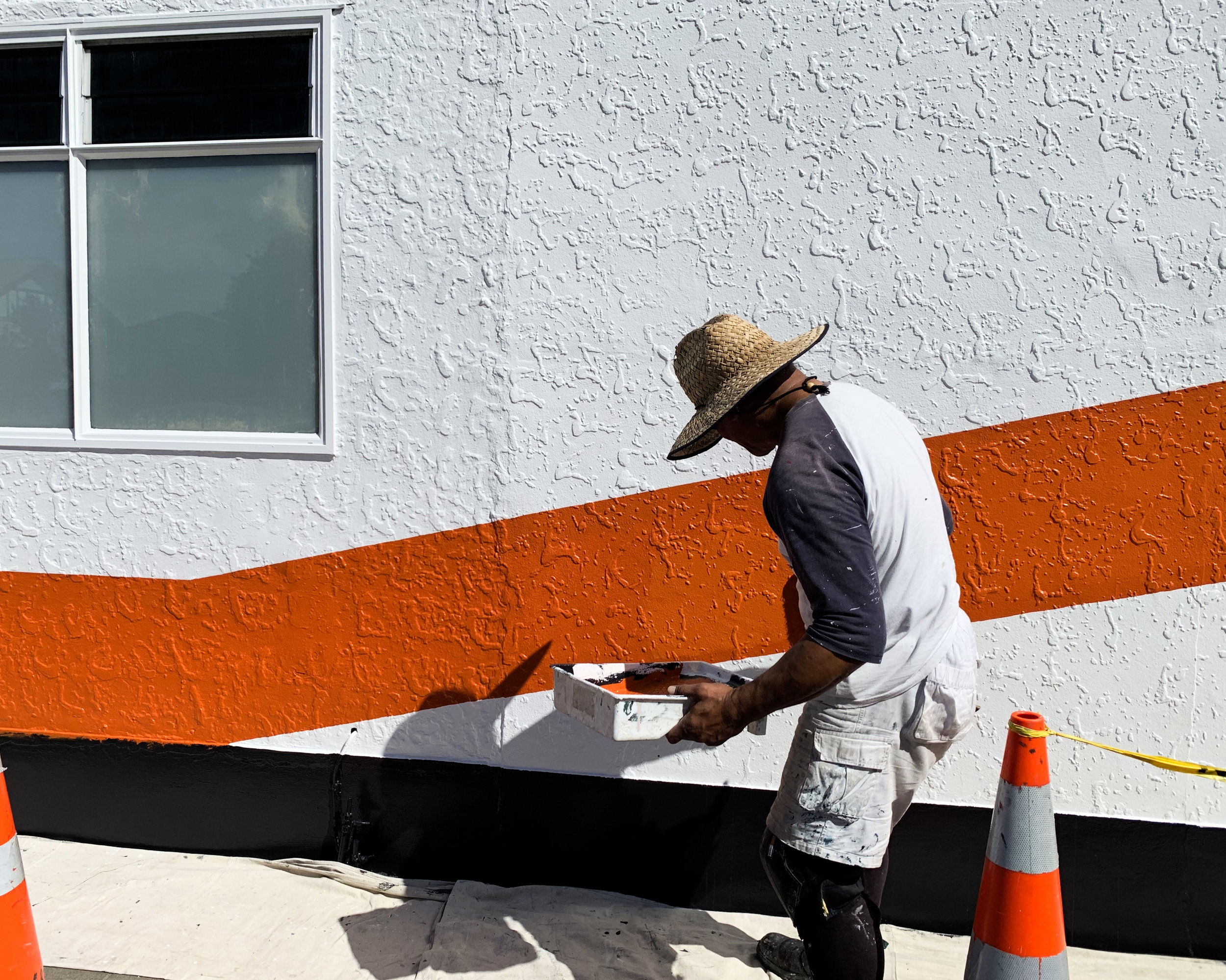 The new colour palette being painted onto our offices and workshops at 336 Childers Road, Gisborne.