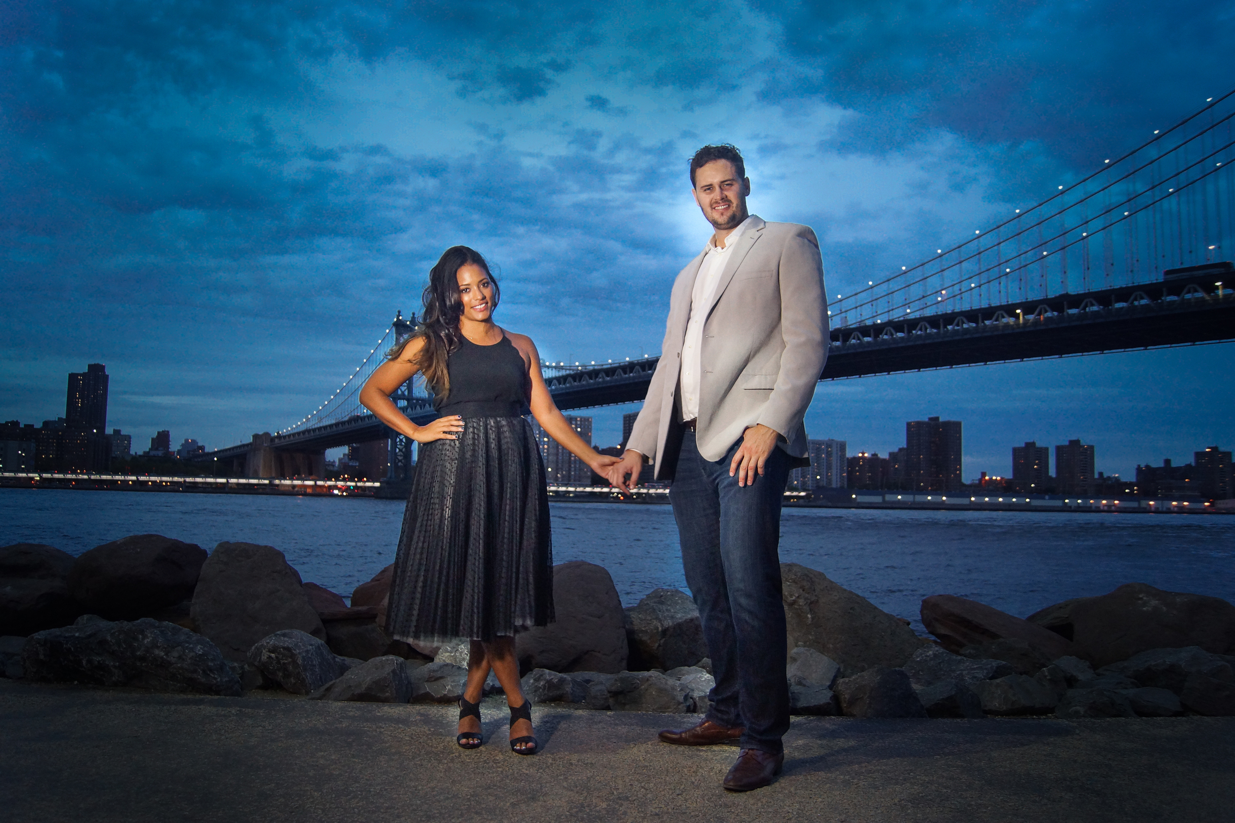 New York City Wedding Engagement  couple photography  north carolina