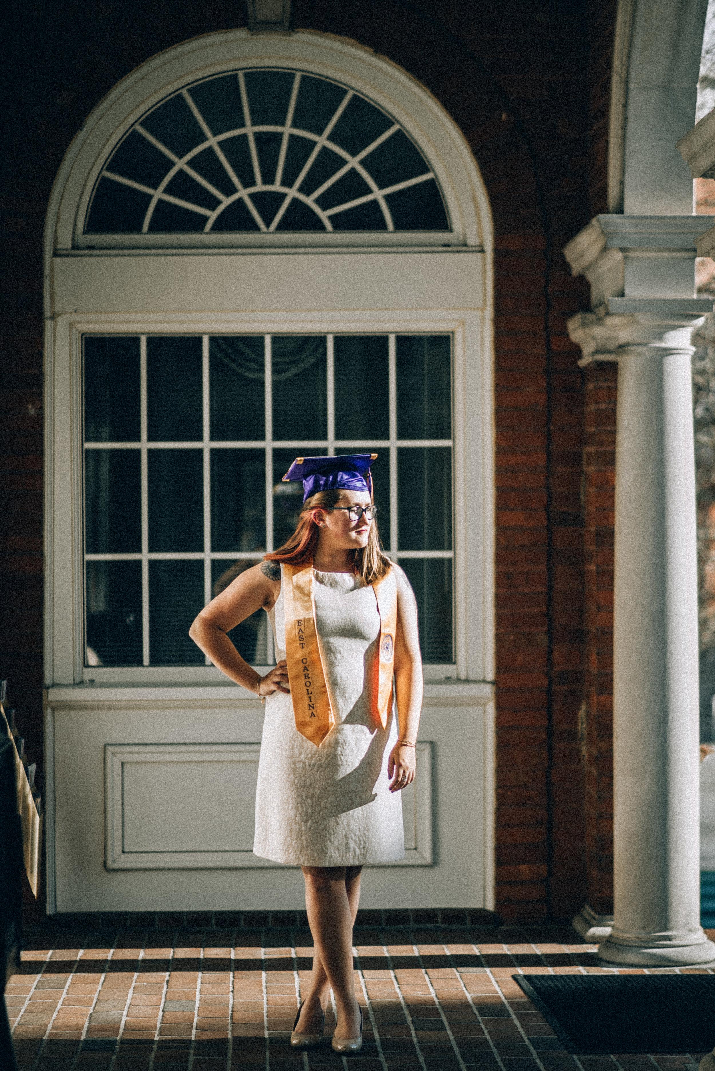 East Carolina University graduation senior photography greenville nc