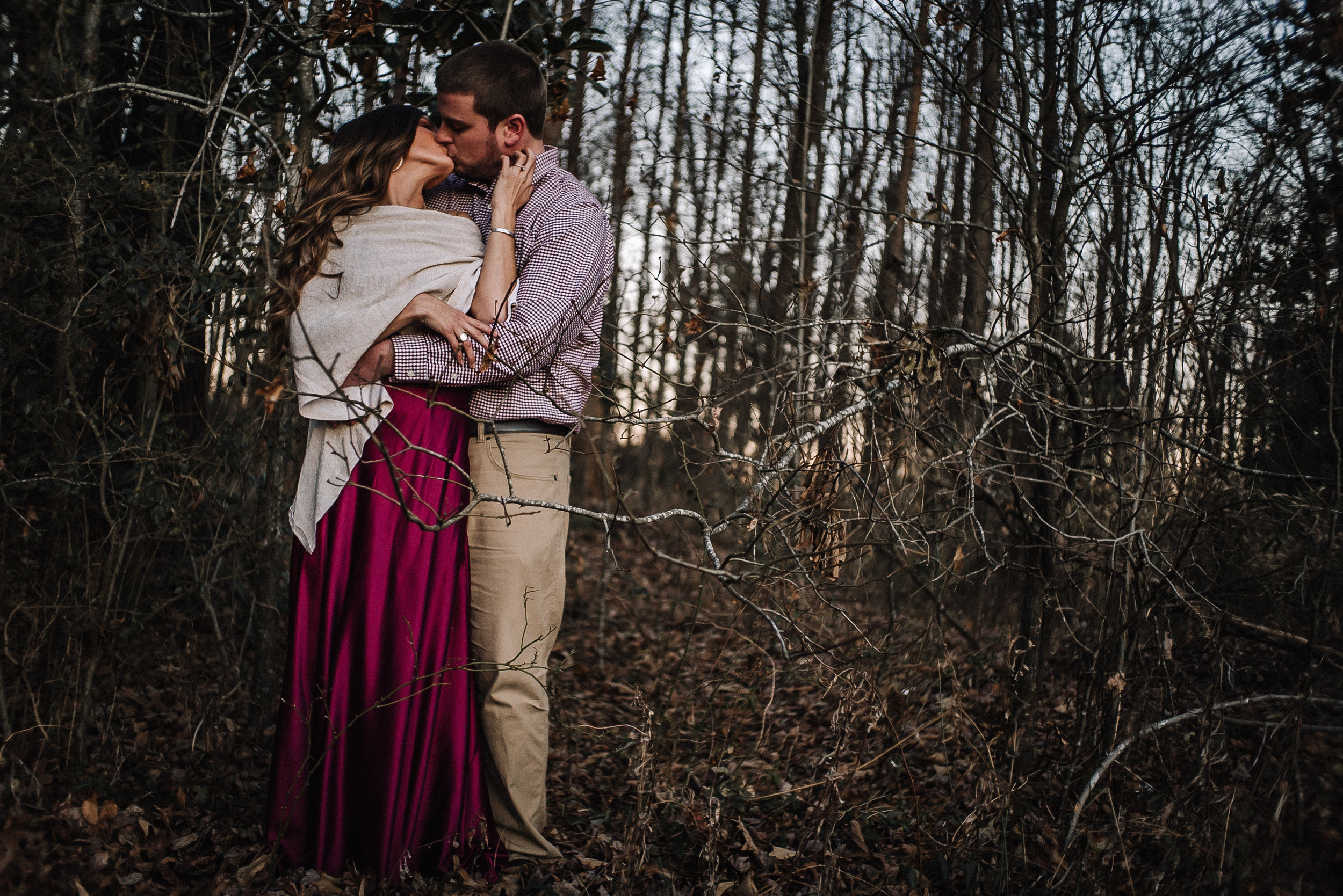 Boone NC Wedding photographer forest engagement session!