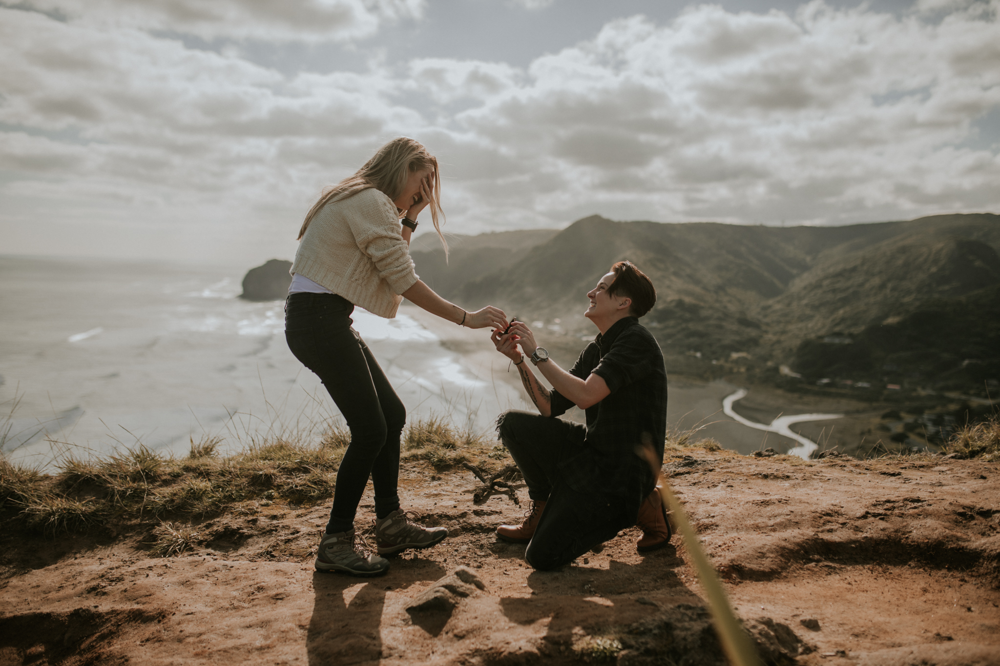 Chey and Sophie: Piha Surprise Proposal