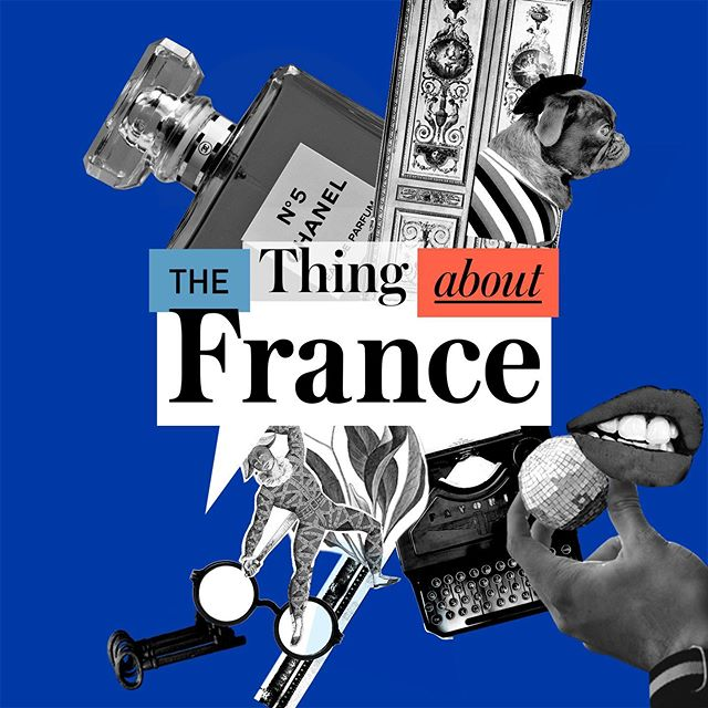 "Introducing our visual identity for @thethingaboutfrance 🇫🇷 Listed as Apple's ""New and Noteworthy""Arts podcast, @thethingaboutfrance is an honest take into the fascinating and complicated relationship between France & America. Stay tuned for an exclusive behind-the-scenes exploring our design work! In the meantime, tune in tomorrow for a new episode 🎤"