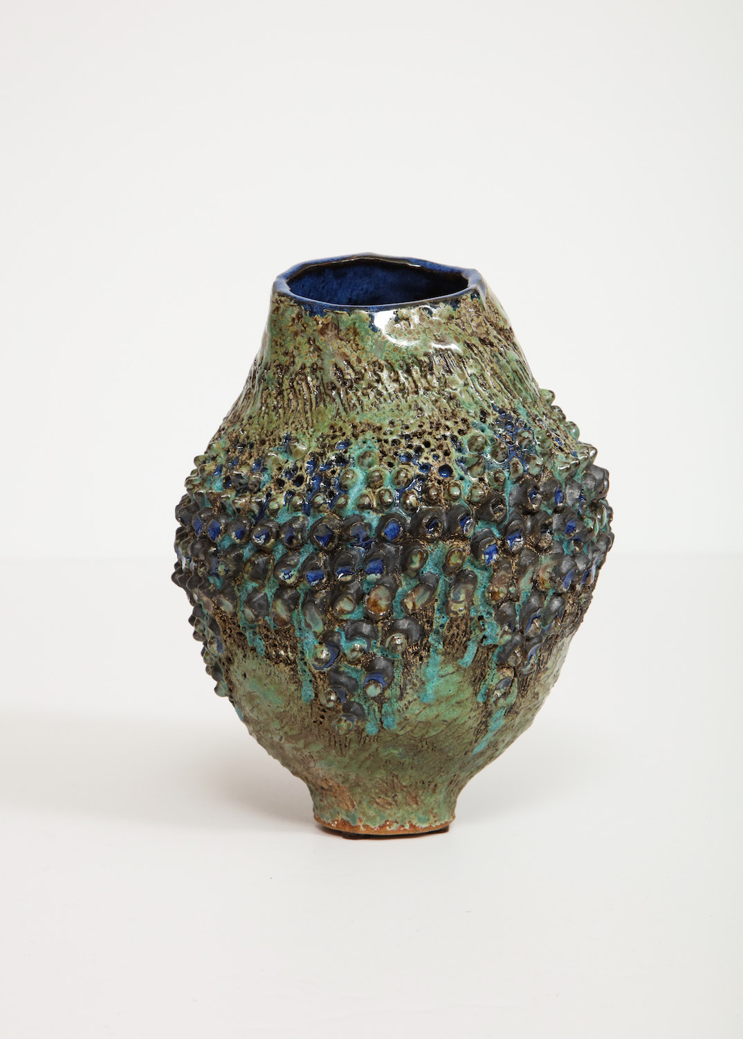 Dena Zemsky Bulbous Vase Small With Bumps 2.jpg