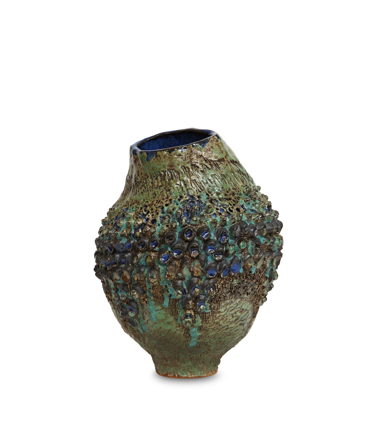 Dena Zemsky Bulbous Vase Small With Bumps 1.jpg