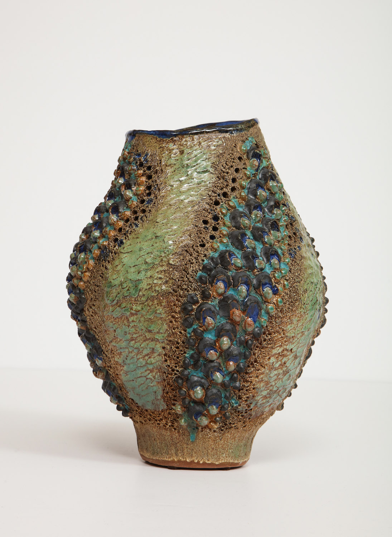 Dena Zemsky Medium Vase Bulbous Bumps & Stripes 4.jpg
