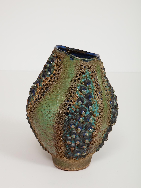 Dena Zemsky Medium Vase Bulbous Bumps & Stripes 5.jpg