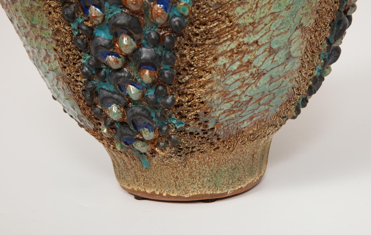 Dena Zemsky Medium Vase Bulbous Bumps & Stripes 7.jpg
