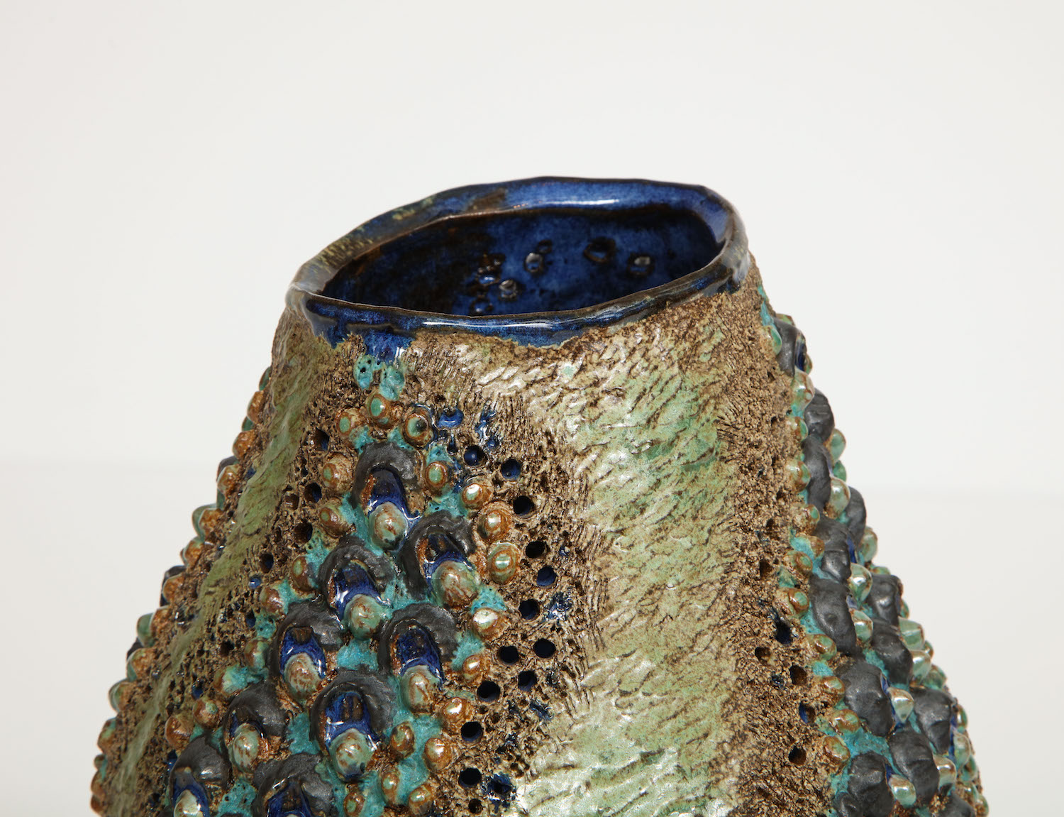 Dena Zemsky Medium Vase Bulbous Bumps & Stripes.jpg
