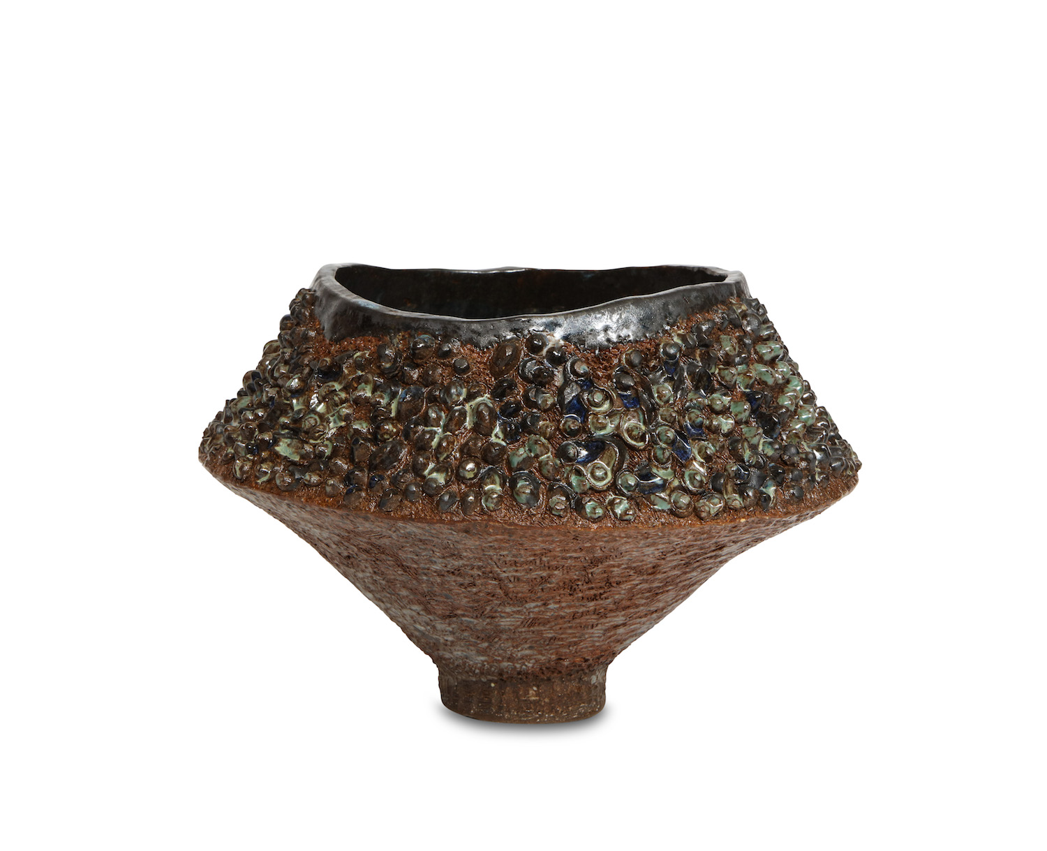 Dena Zemsky Footed Bowl With Bumps Small 1.jpg