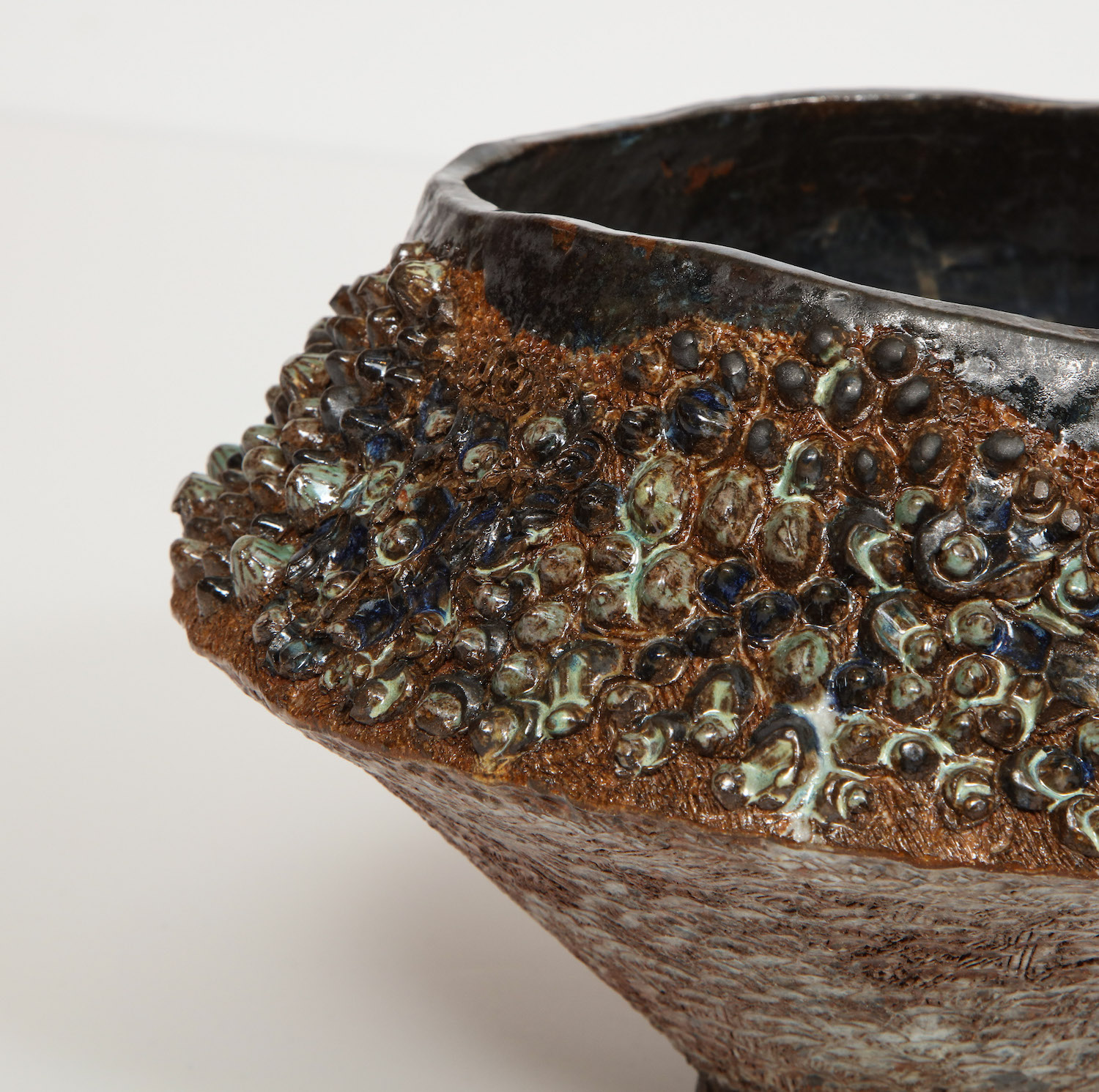 Dena Zemsky Footed Bowl With Bumps Small 3.jpg