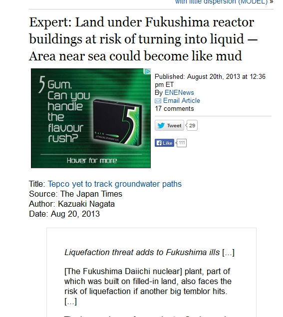 Land under Fukushima reactor buildings at risk of turning into liquid — Area near sea could become like mud.jpg